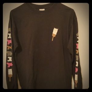 Long sleeve black ripndip shirt